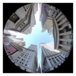 Wall Streetthru through a fish eye lens
