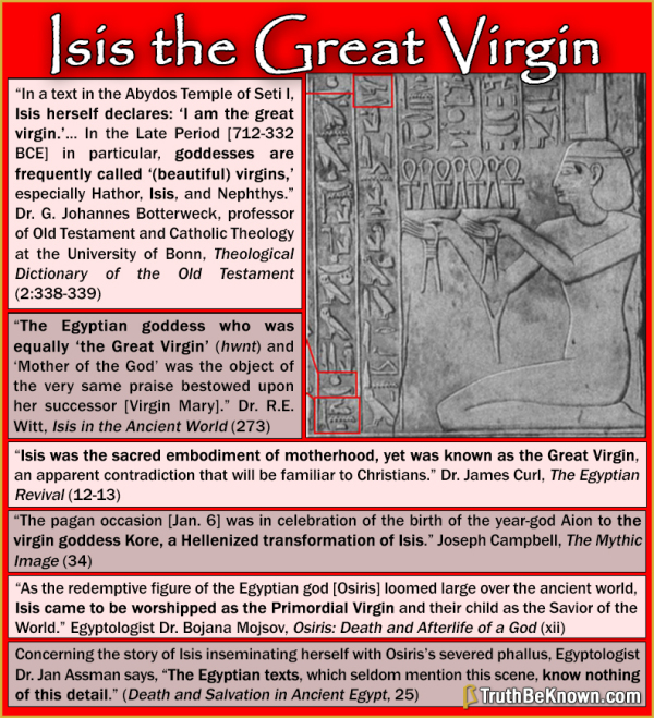 Isis is the Great Virgin