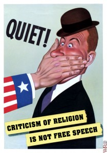 No free speech for religion critics