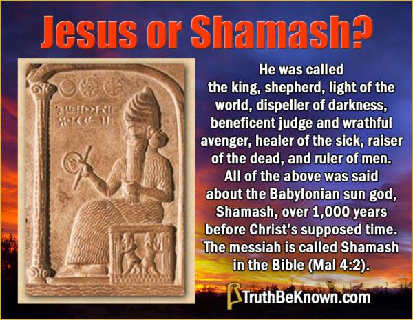 Jesus or Shamash