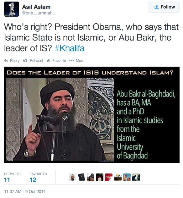 Baghdadi the Islamic State caliph isn't a 'real Muslim?'