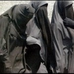 salafi muslim women covered in niqab