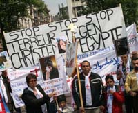 christian copts egypt persecution protest holland