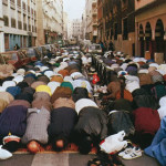 muslims praying streets europe
