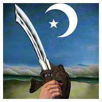 islam sword crescent moon