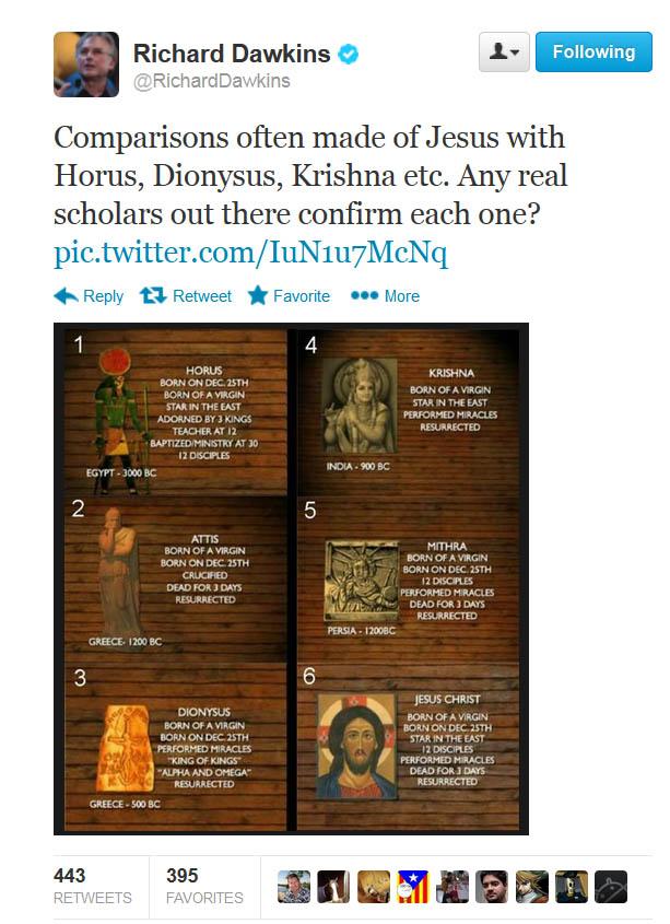 Dawkins tweets Jesus mythicism - Freethought Nation