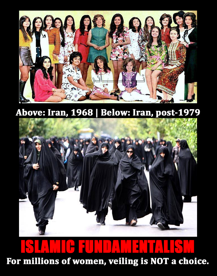 Islamic fundamentalism does not give women a choice to wear a veil
