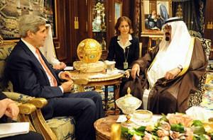 John Kerry meets with King Abdullah