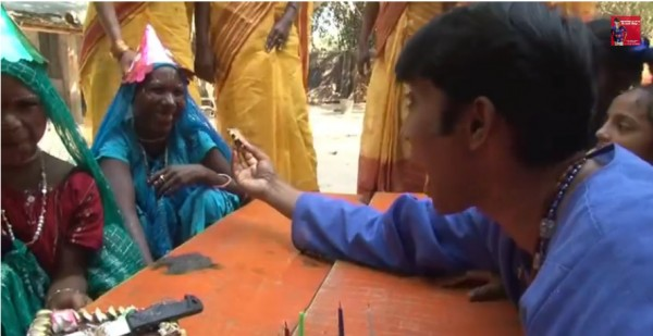 Aacharay playing with elderly women