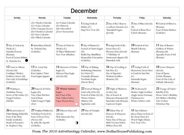 December light celebrations - CLICK TO ENLARGE
