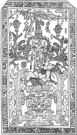 King Pakal on the Tree of Life from Palenque