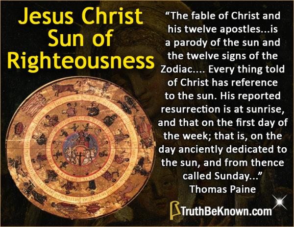 Jesus as the sun by Thomas Paine